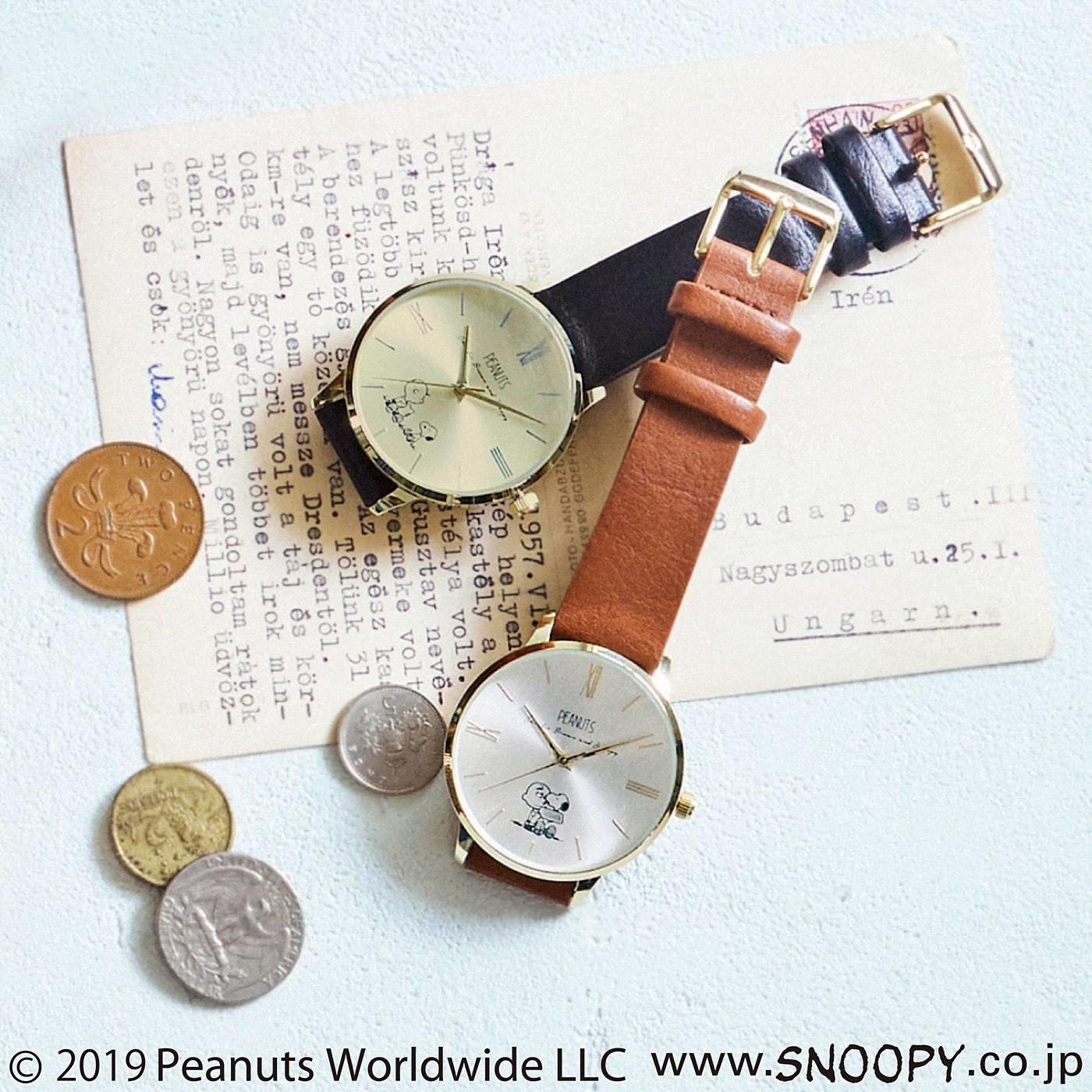 スヌーピー 大人にうれしいシックな腕時計
