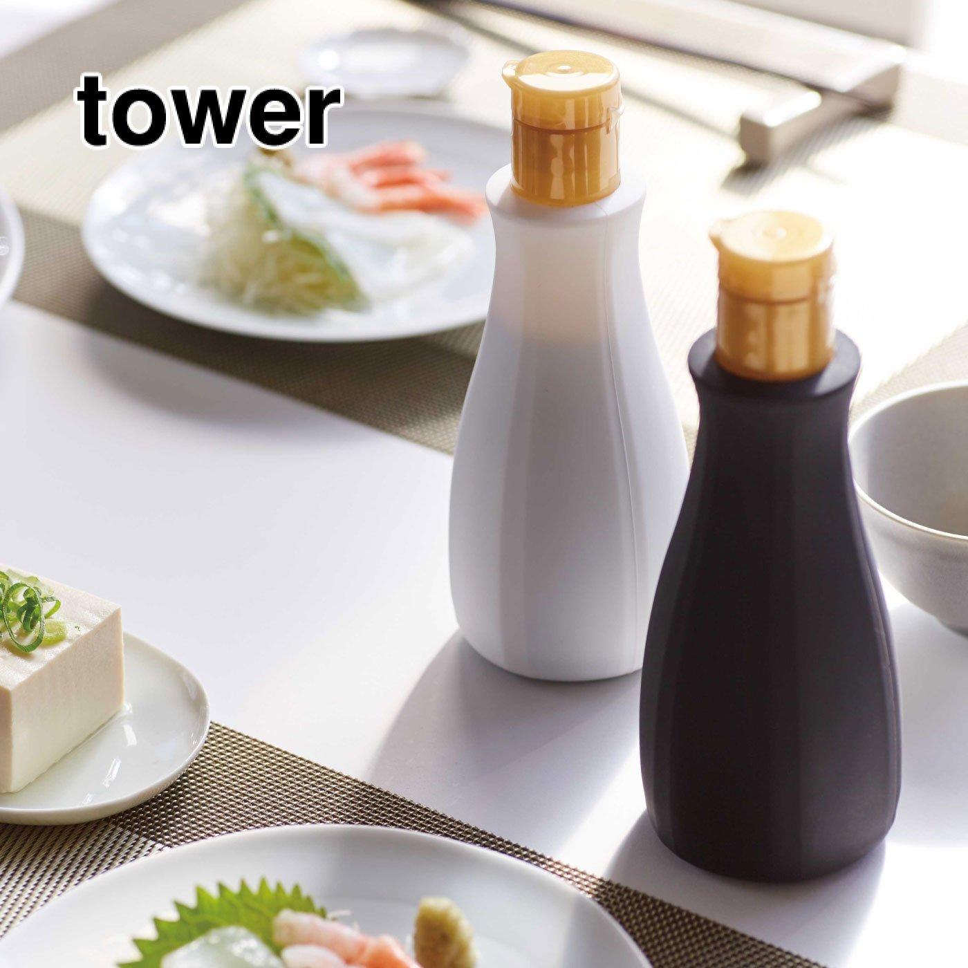 tower おしゃれに変身!卓上醤油ボトルカバー