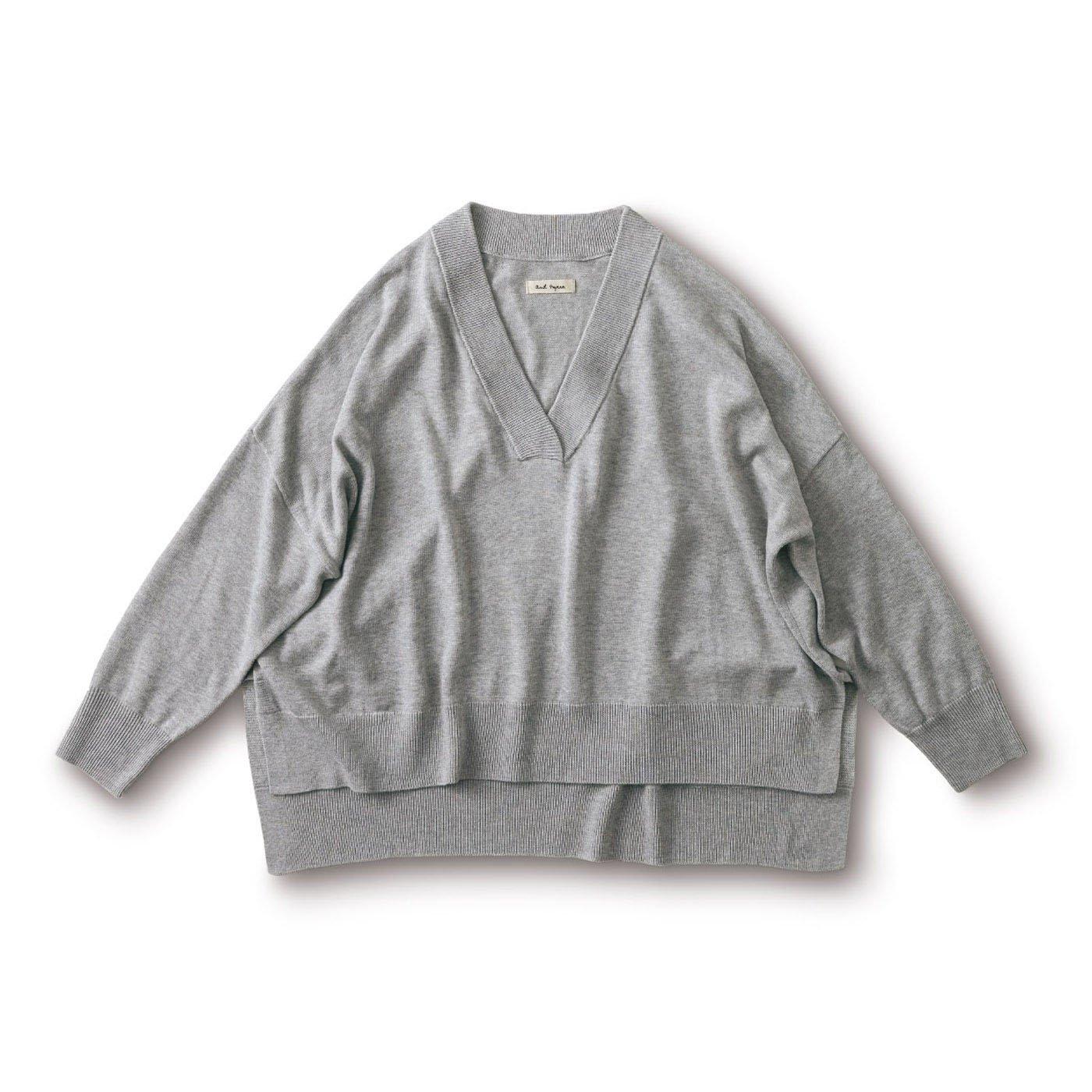 and myera 四角いセーター〈グレー杢〉