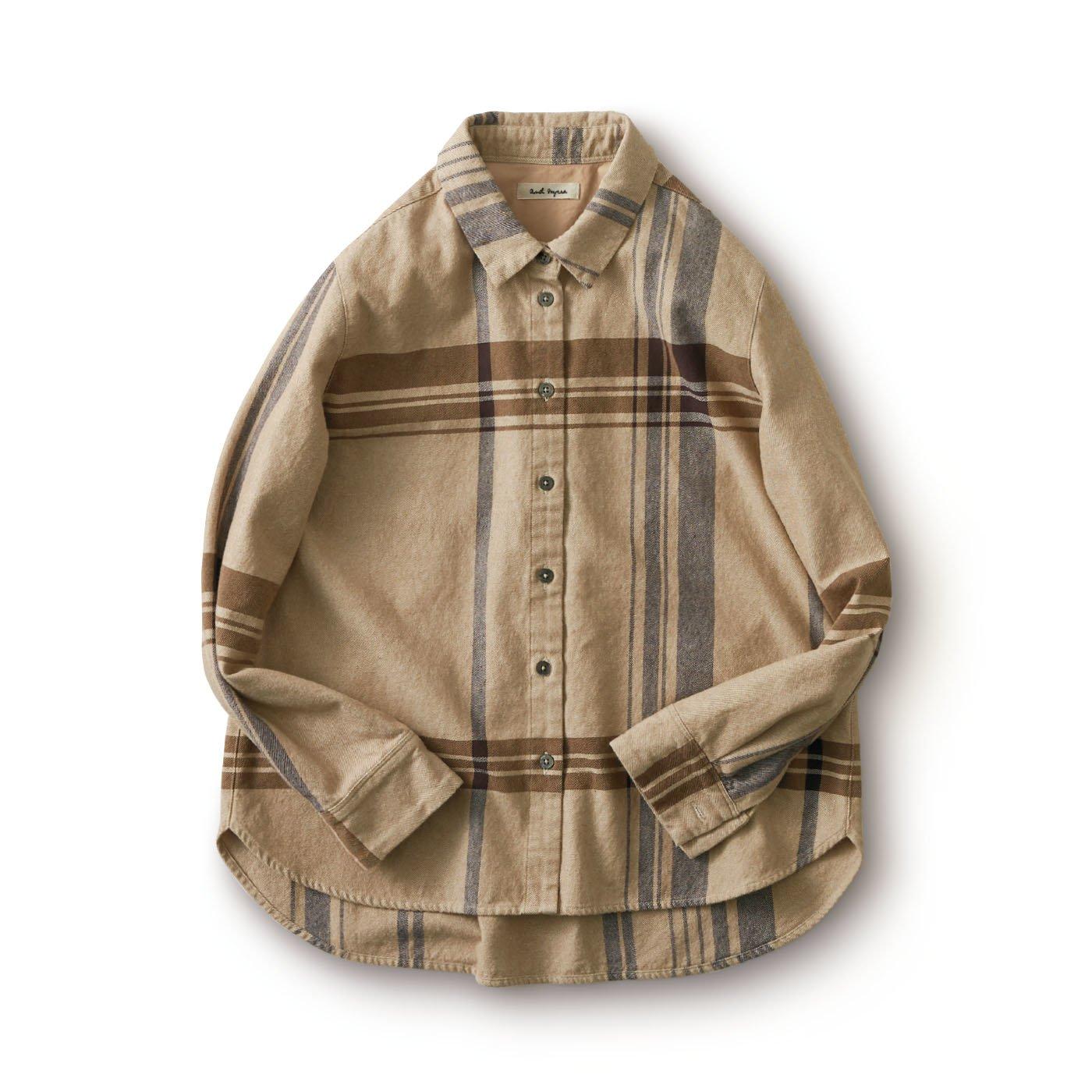 and myera 大きなチェックのシャツ
