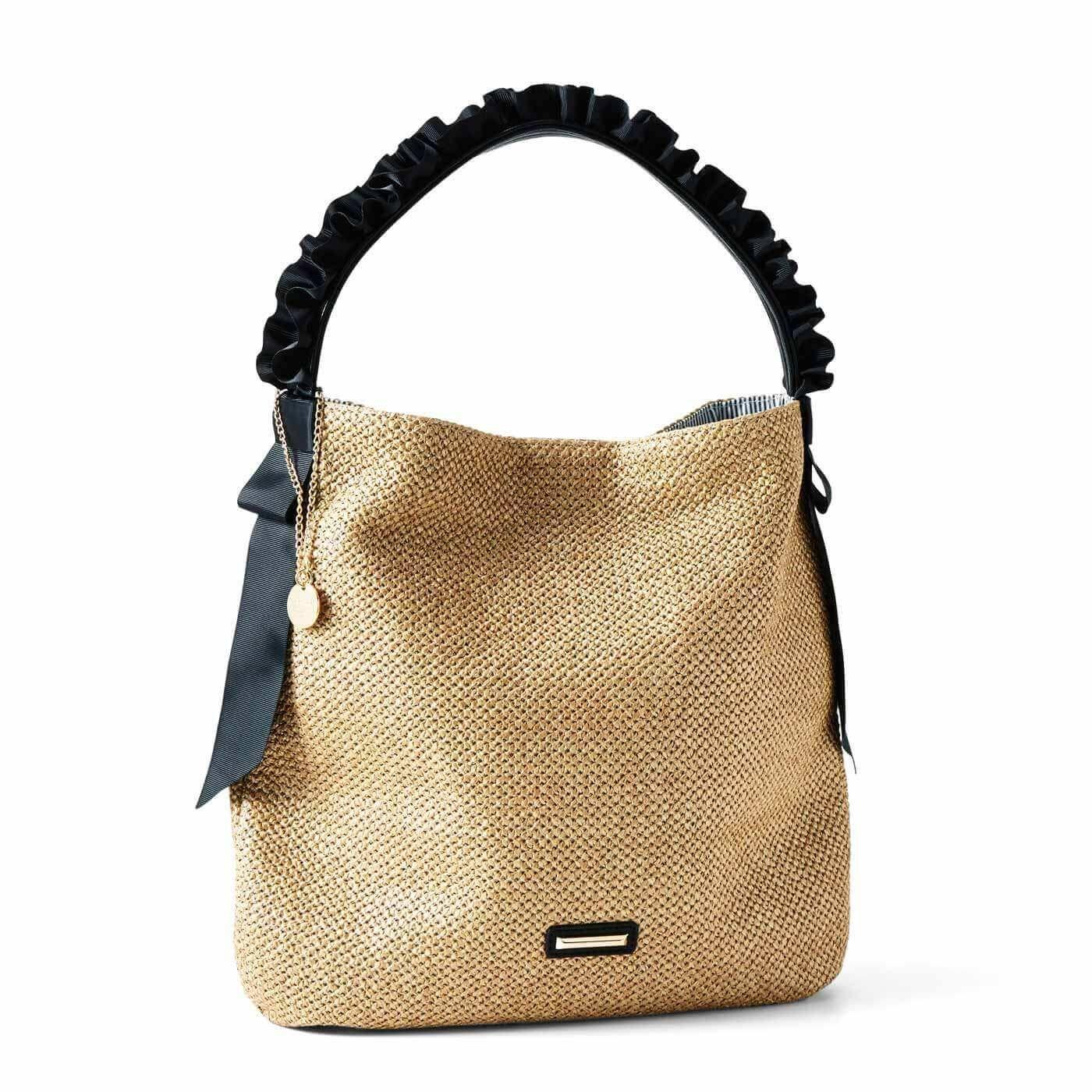 【3~10日でお届け】リブ イン コンフォート 涼やかで軽い フリルリボンのワンストラップバッグ