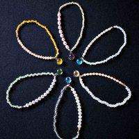 フェリシモ チャレンジド・クリエイティブ・プロジェクト 手づくりガラス粒が宝石のように きらめく 淡水パールのストレッチブレスレットの会