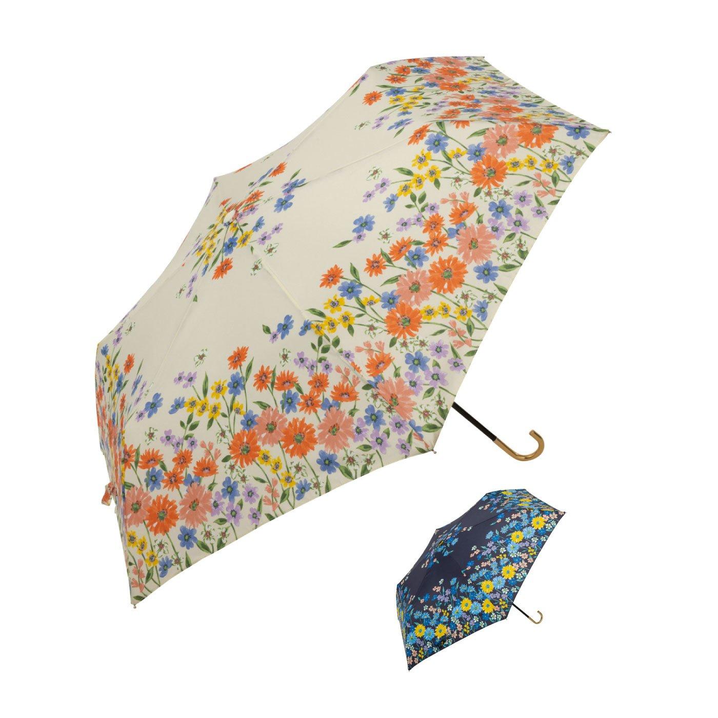 ボタニカルムードな花柄折りたたみ傘