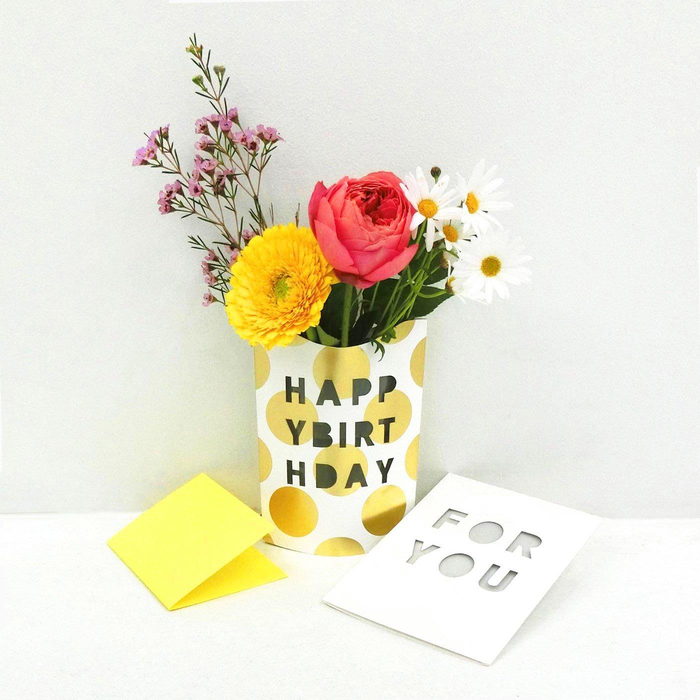贈るのも贈られるのもうれしい! 花びんになるメッセージカードセット