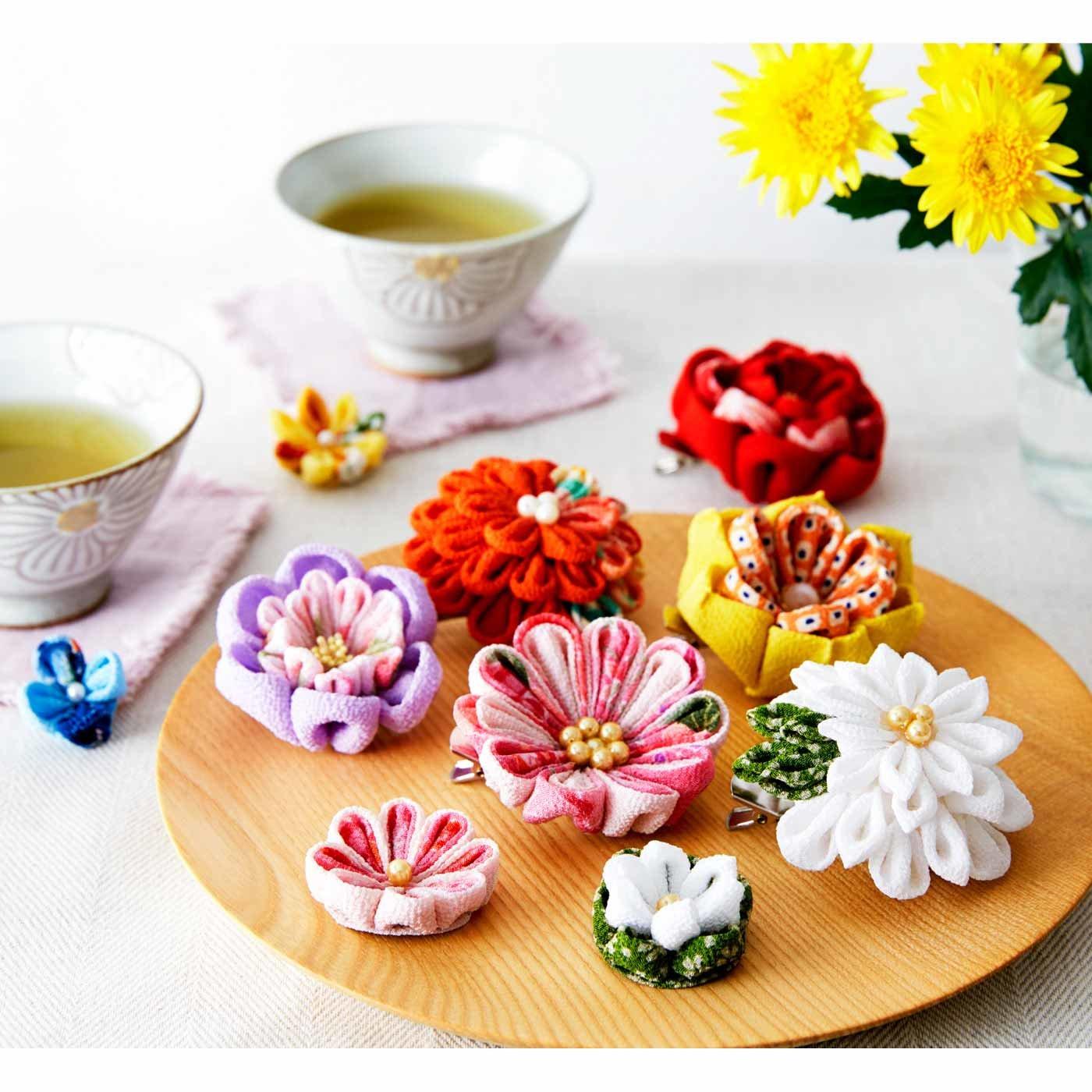 ちりめんで形にする和の趣 四季折々つまみ細工のお花の会