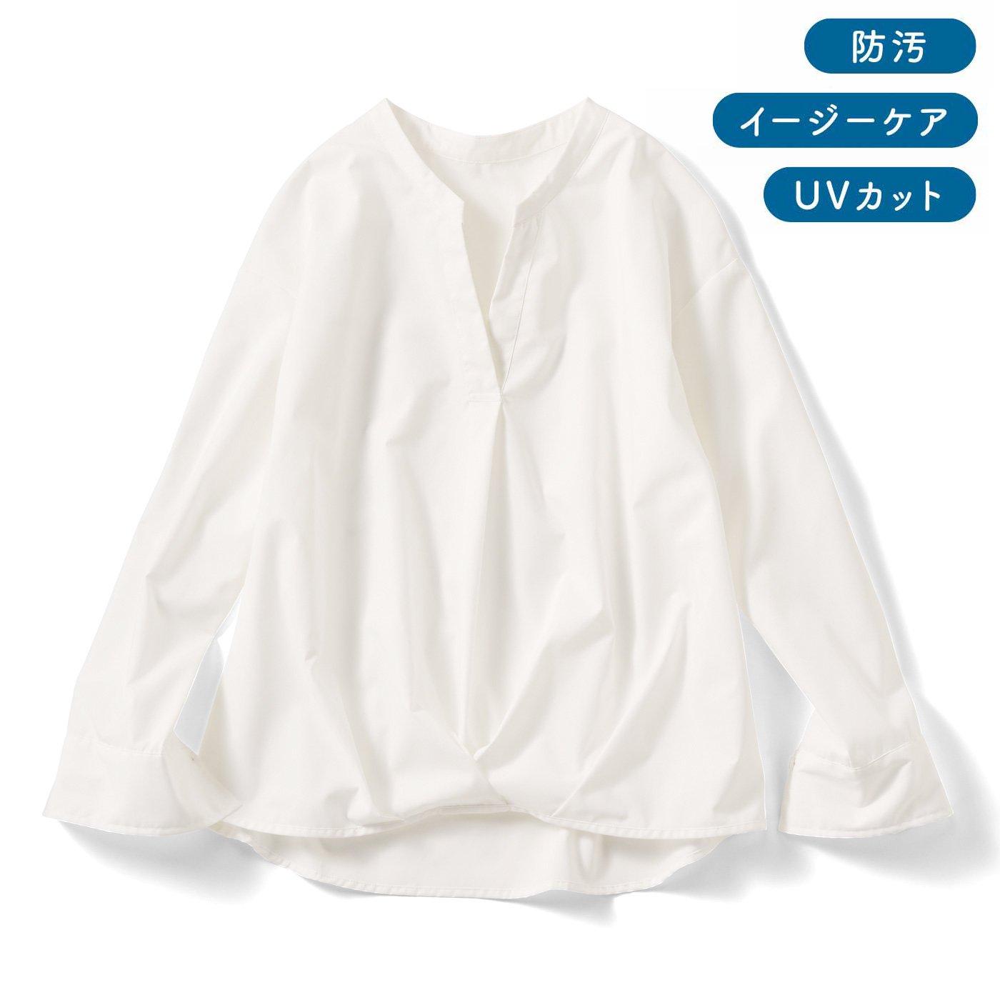 IEDIT[イディット] UVカット&防汚加工!クレバー素材のシャツプルオーバーの会