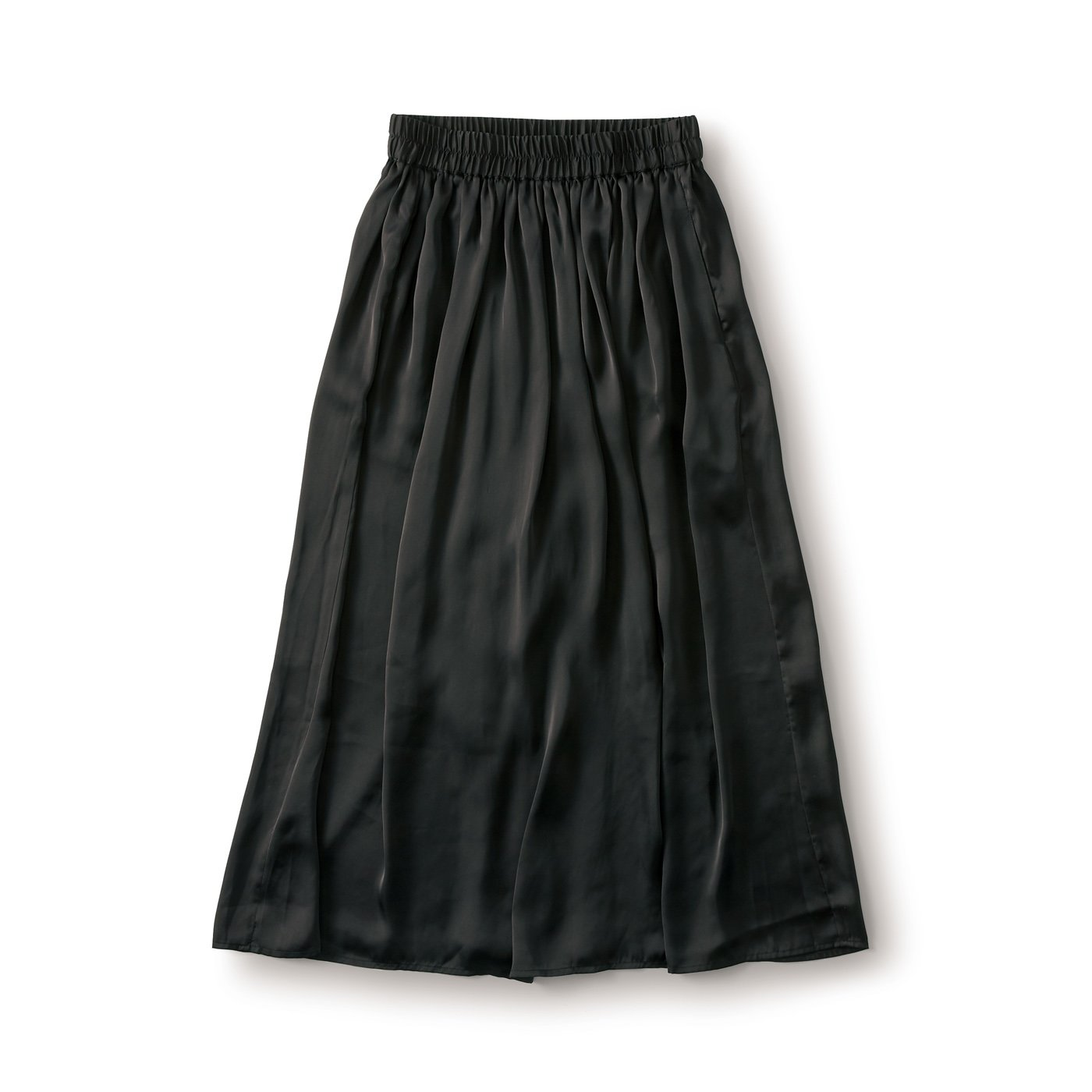and myera さらりサテンスカート〈黒〉