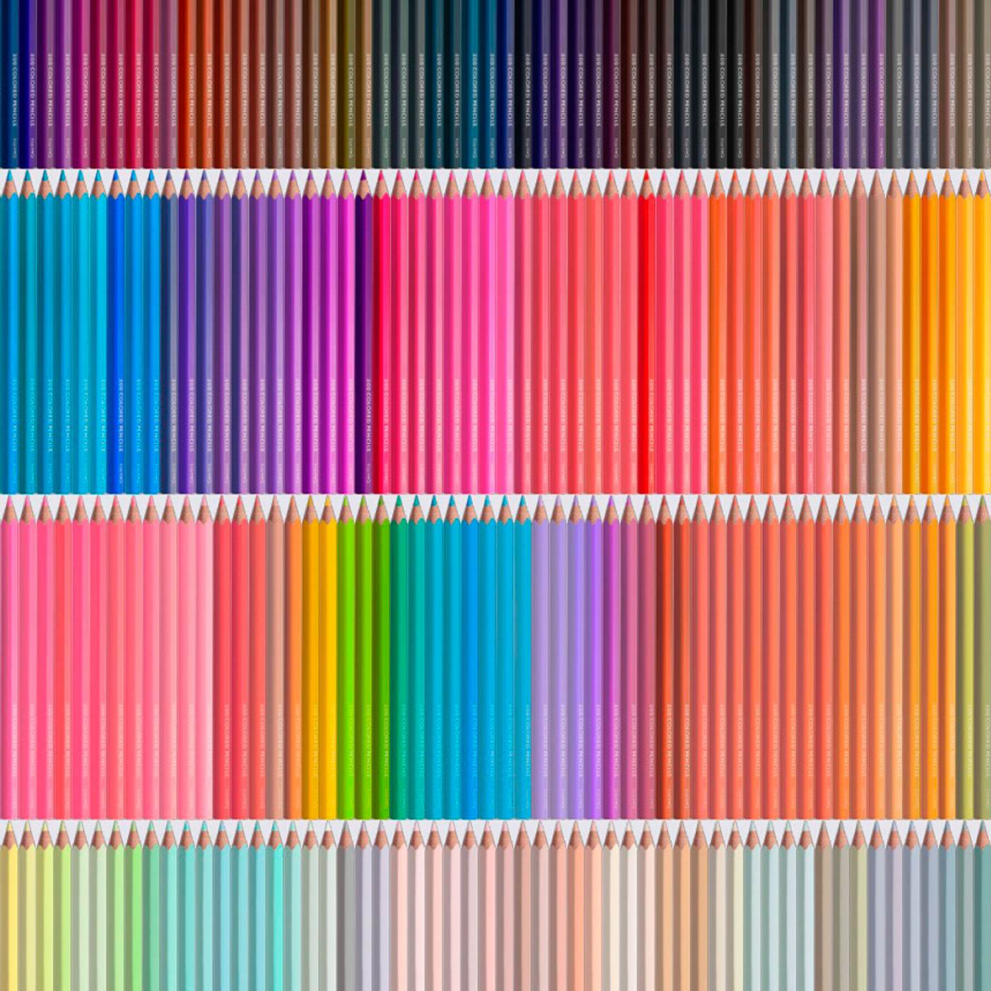 500もの色の違いや微妙なグラデーションを繊細に表現しています。蛍光色やメタリックカラーなど表現の幅が広がる珍しい色も。