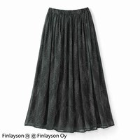 <フェリシモ>Finlayson フィンレイソン かろやかロングスカート〈サイケ〉【送料無料】