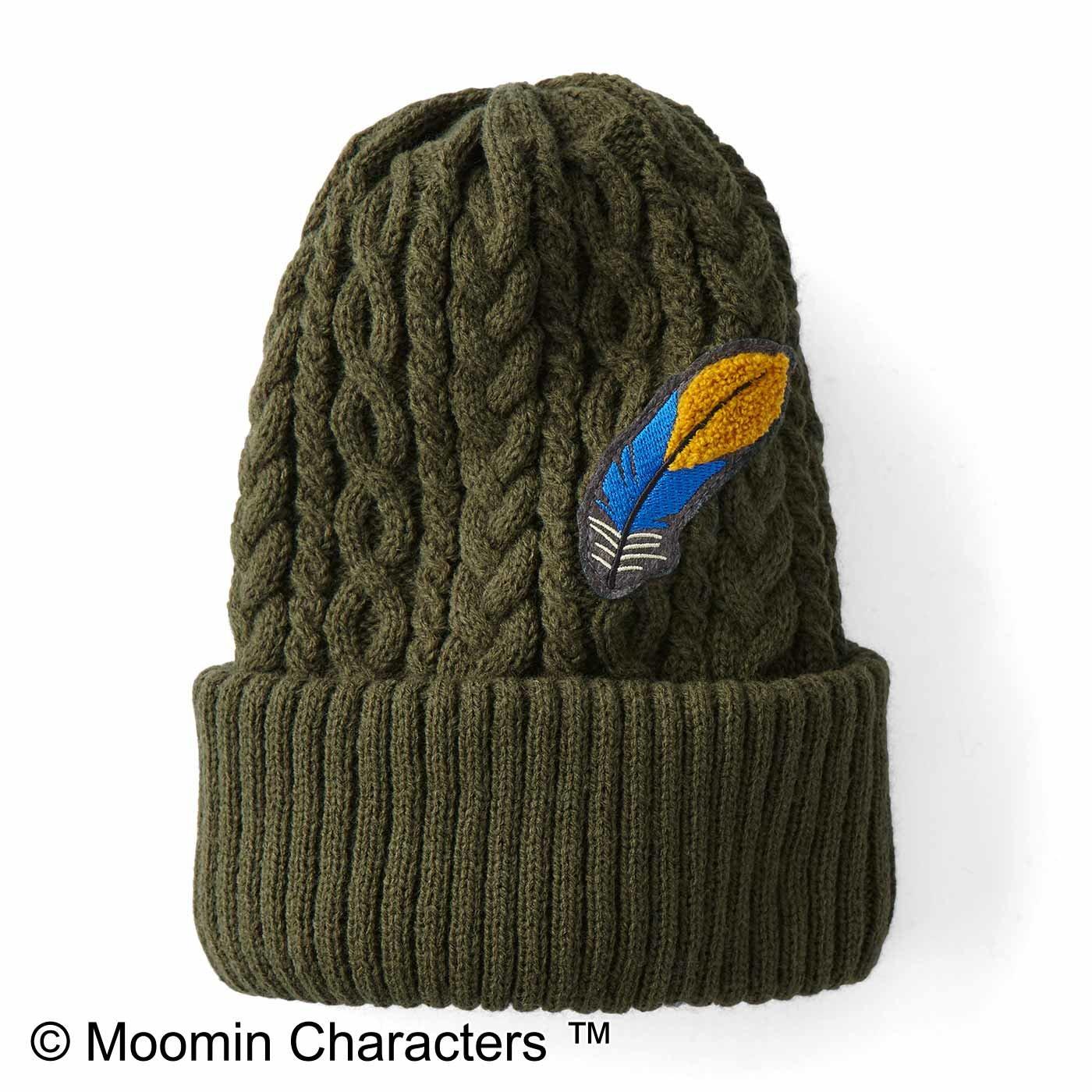 MOOMIN スナフキン 羽根刺しゅうのニット帽