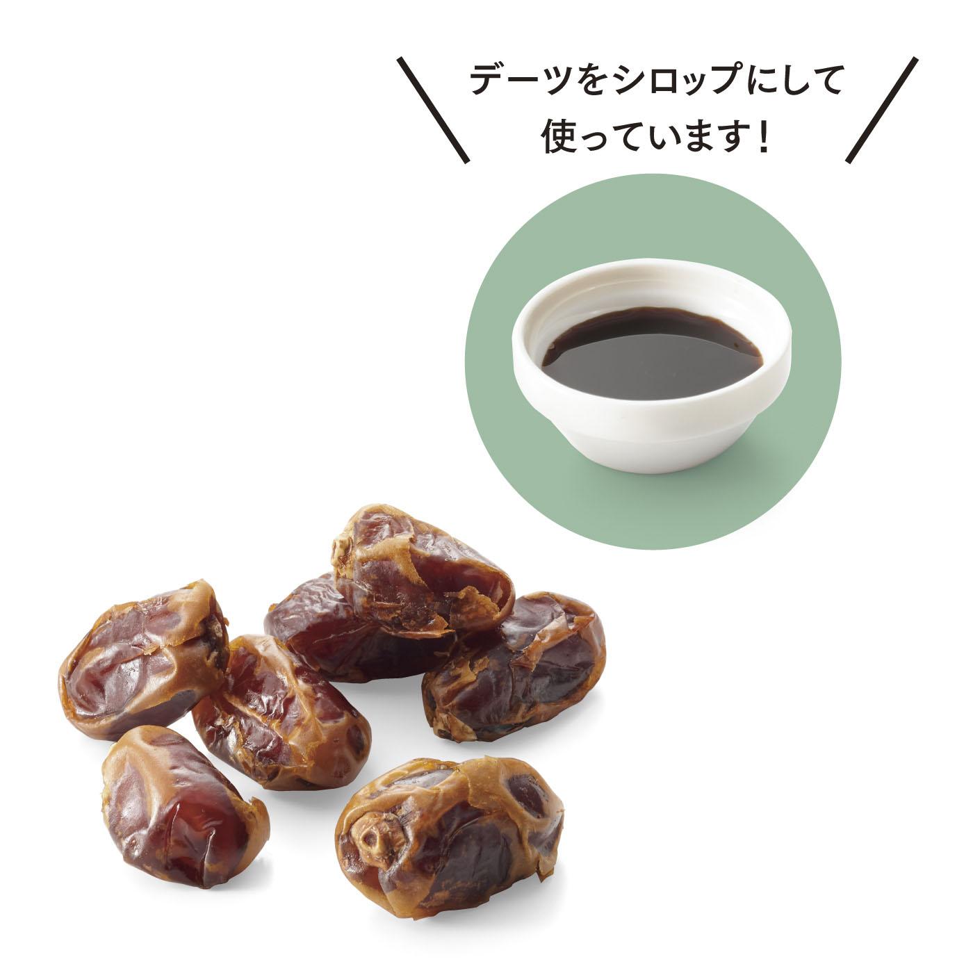 デーツってなに? ● 中東原産のナツメヤシの実 ● 干し柿のような食感 ● 黒糖のような強い甘み