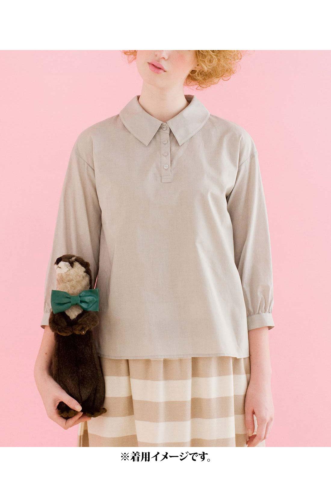 これは参考画像です。大きめの衿がとてもかわいいデザインです。
