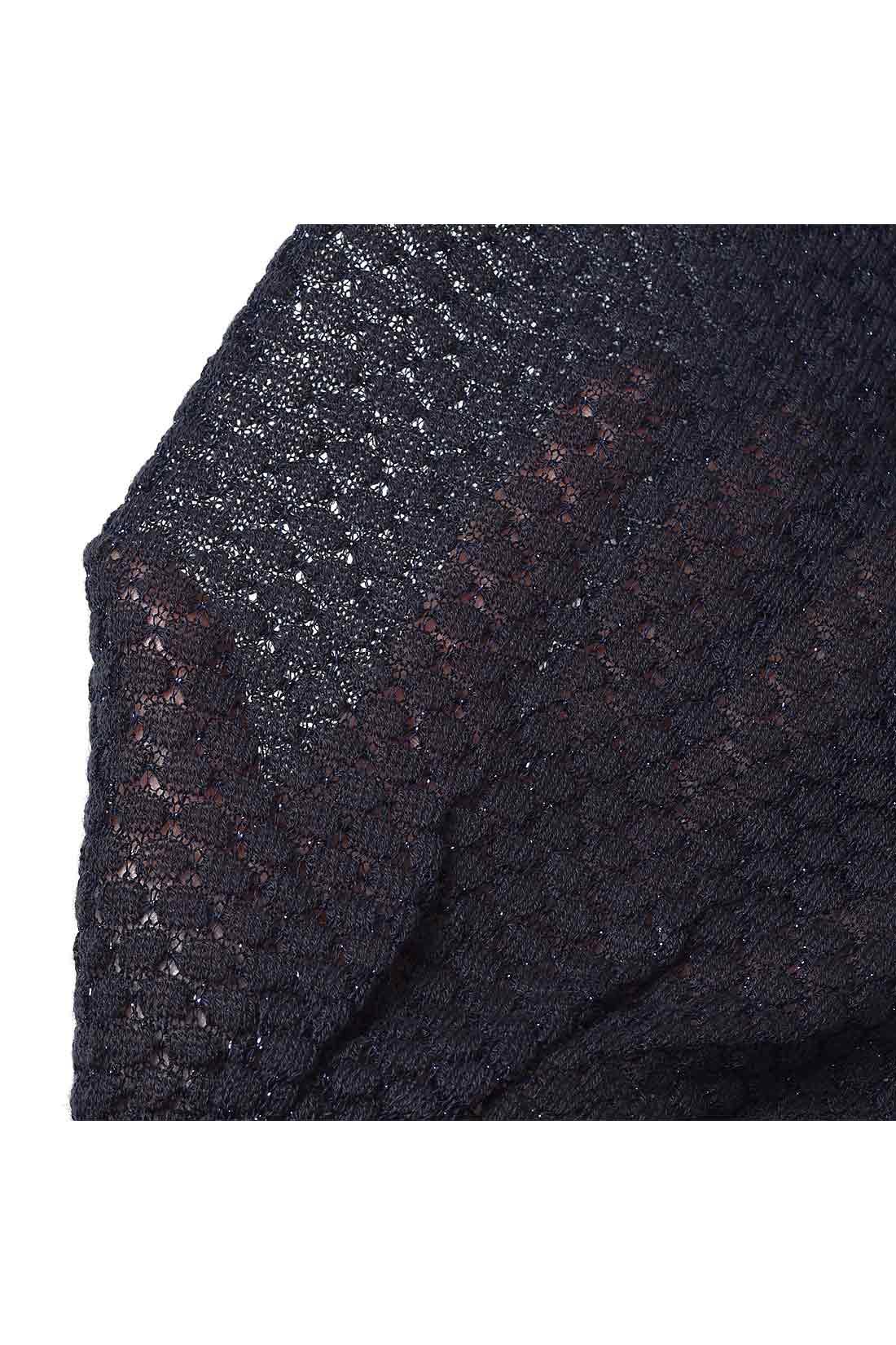 キラッとラメ糸の部分が、細~いので、透けて見えるよ。