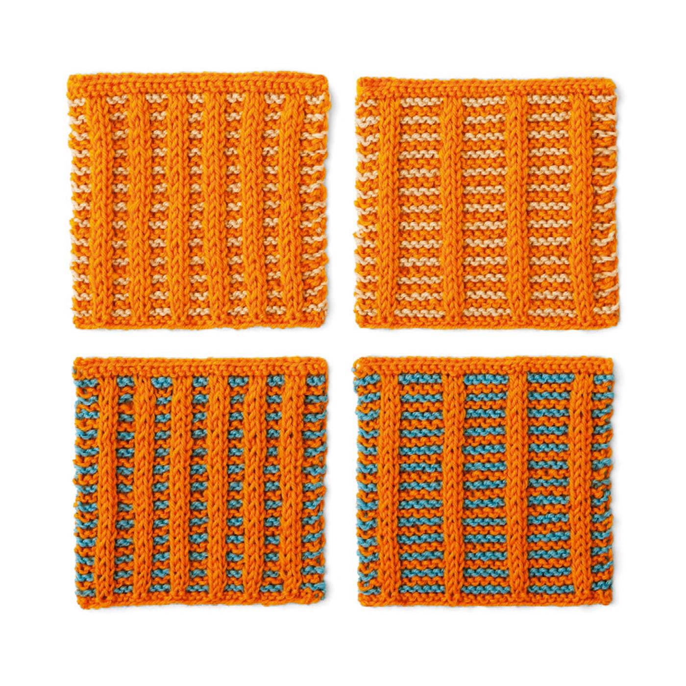 橙系×ストライプ