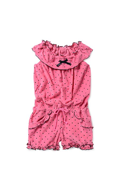 フリル仕立ての衿やすそのフリルで愛され度アップ! ウエストのひもを調節して、かわいく着こなして。