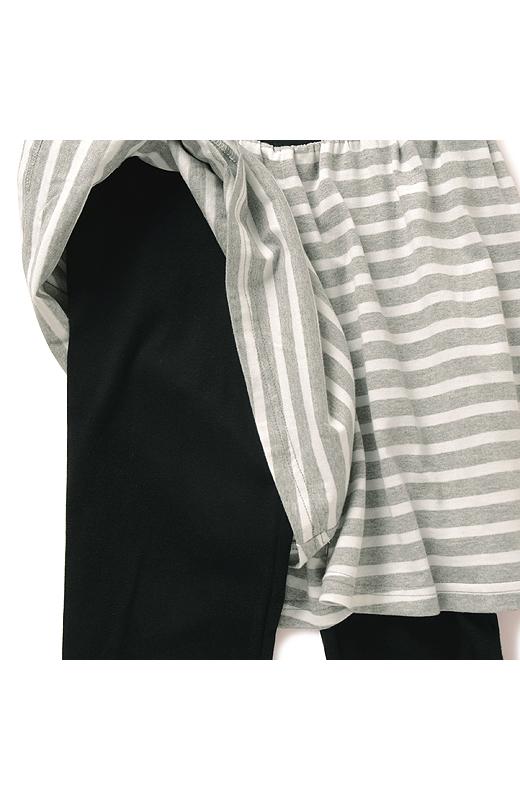 キュロットスカート+スパッツでキュカッツ。らくちんだから、部屋着にしてもいいね。