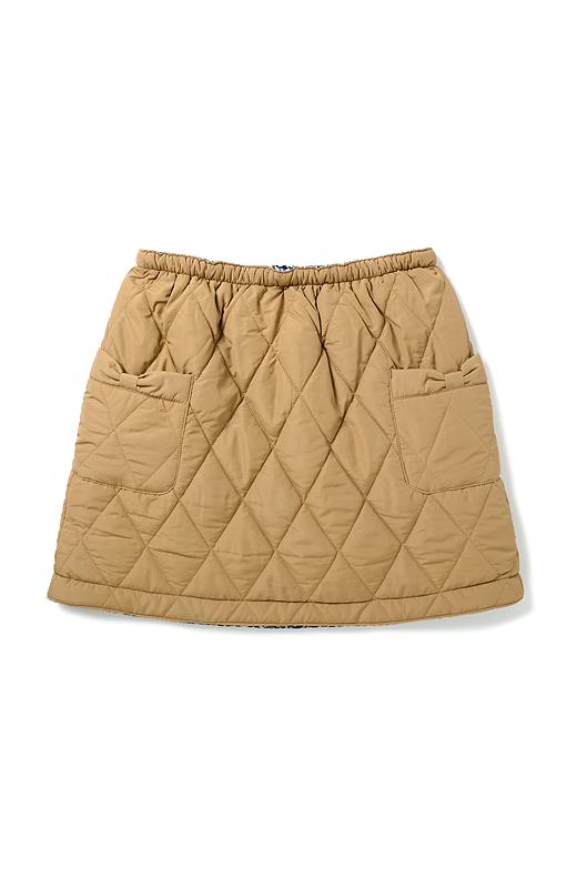 ウエストはすぽんとはけるらくちんな総ゴム仕様。リボンをデザインしたサイドのポケットで太ももまわりもカバー。
