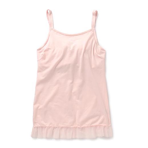 大きい胸さんアウターをきれいに見せる バストキープブラキャミ(ライトピンク)