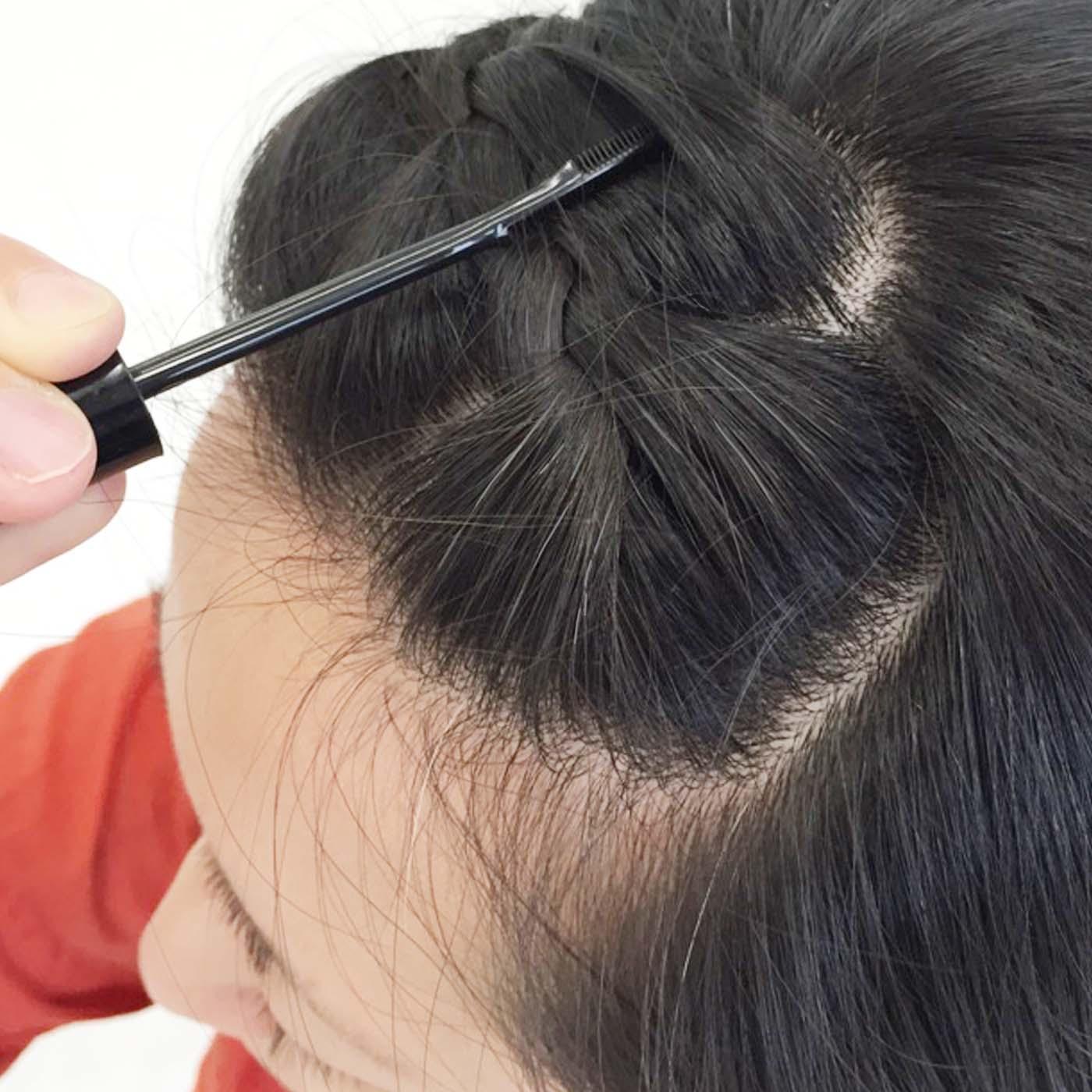 編み込みした髪にもサッと使いやすい!