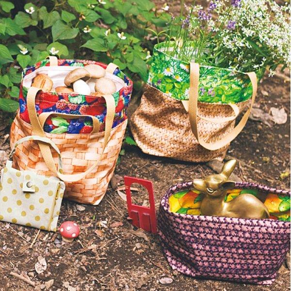 実りの森の贈りもの 荷物が増えたら容量アップ 絵柄が飛び出す バスケット風2-wayバッグの会