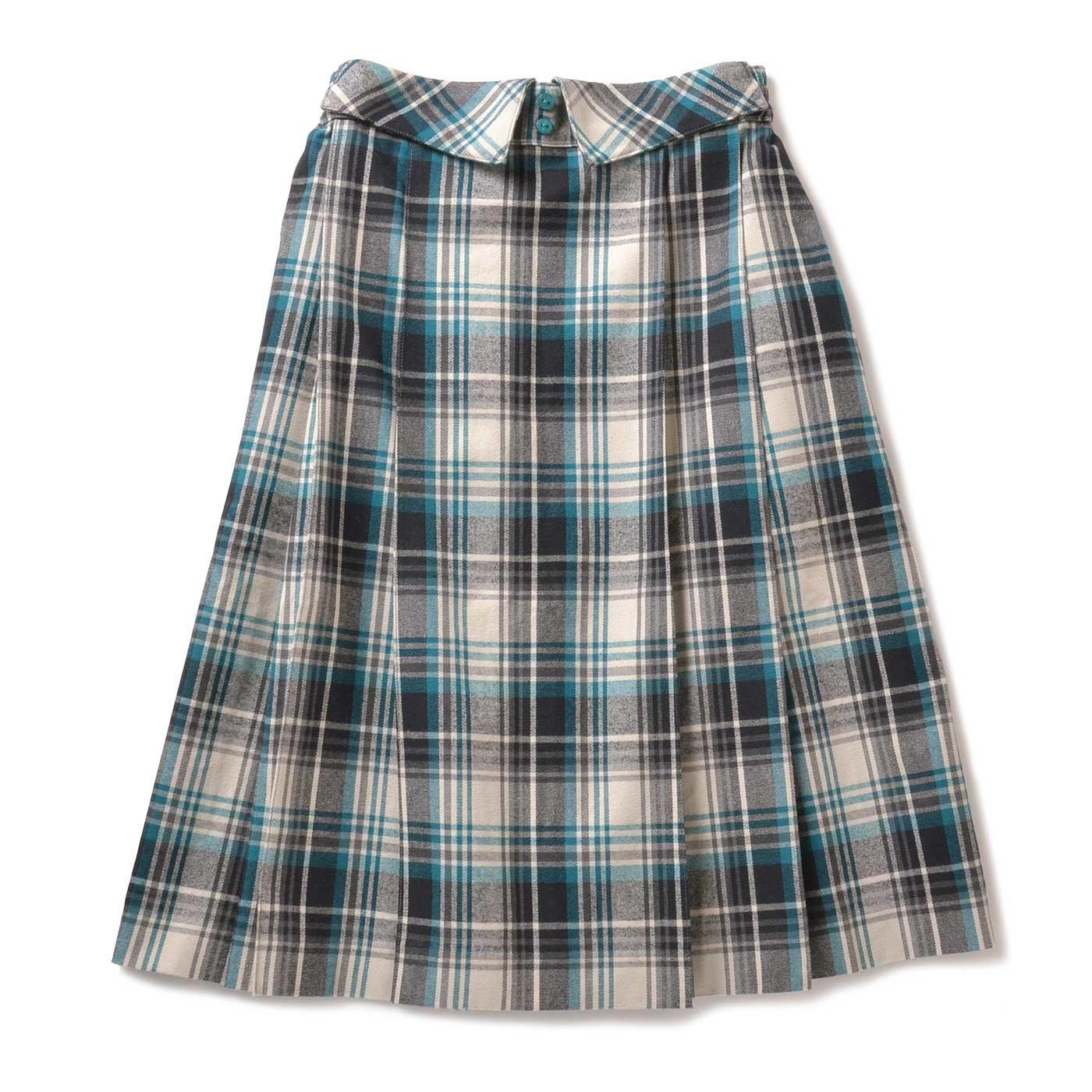 衿風ウエストの おすましチェックスカート(1)