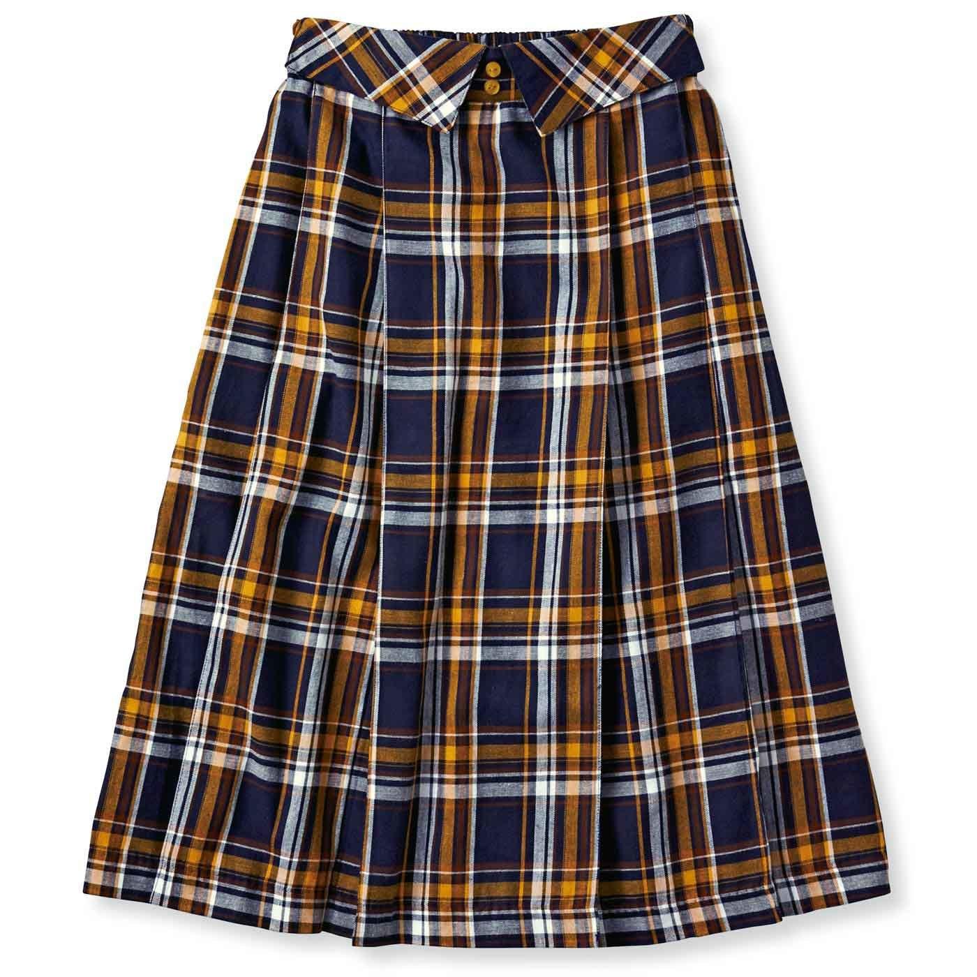 衿風ウエストの おすましチェックスカート(2)