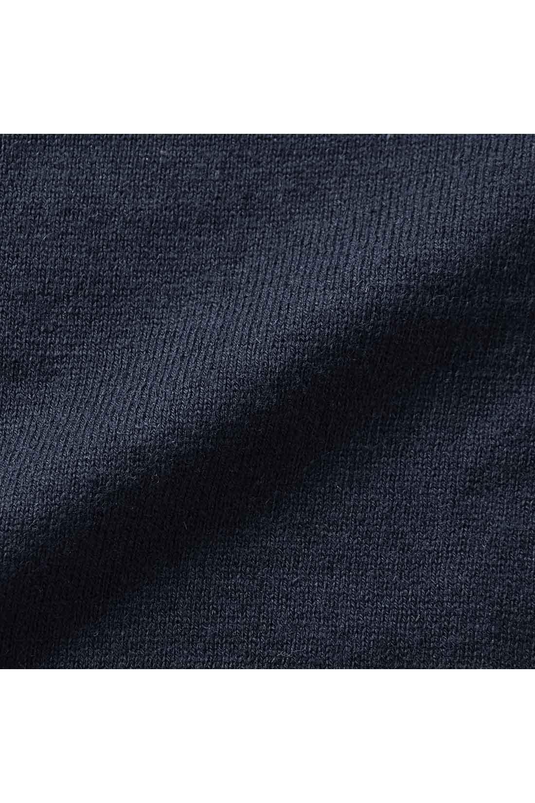 かわいすぎる外見とはウラハラに麻混のこだわり糸を使っています。
