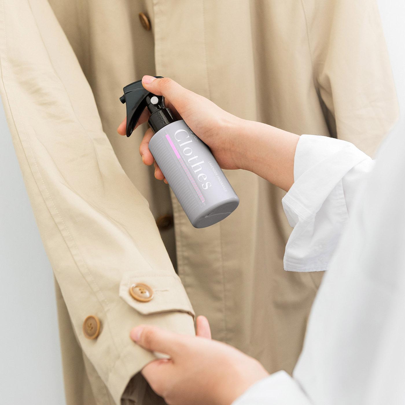 家で洗えないコートも、しわを取っていい香り。