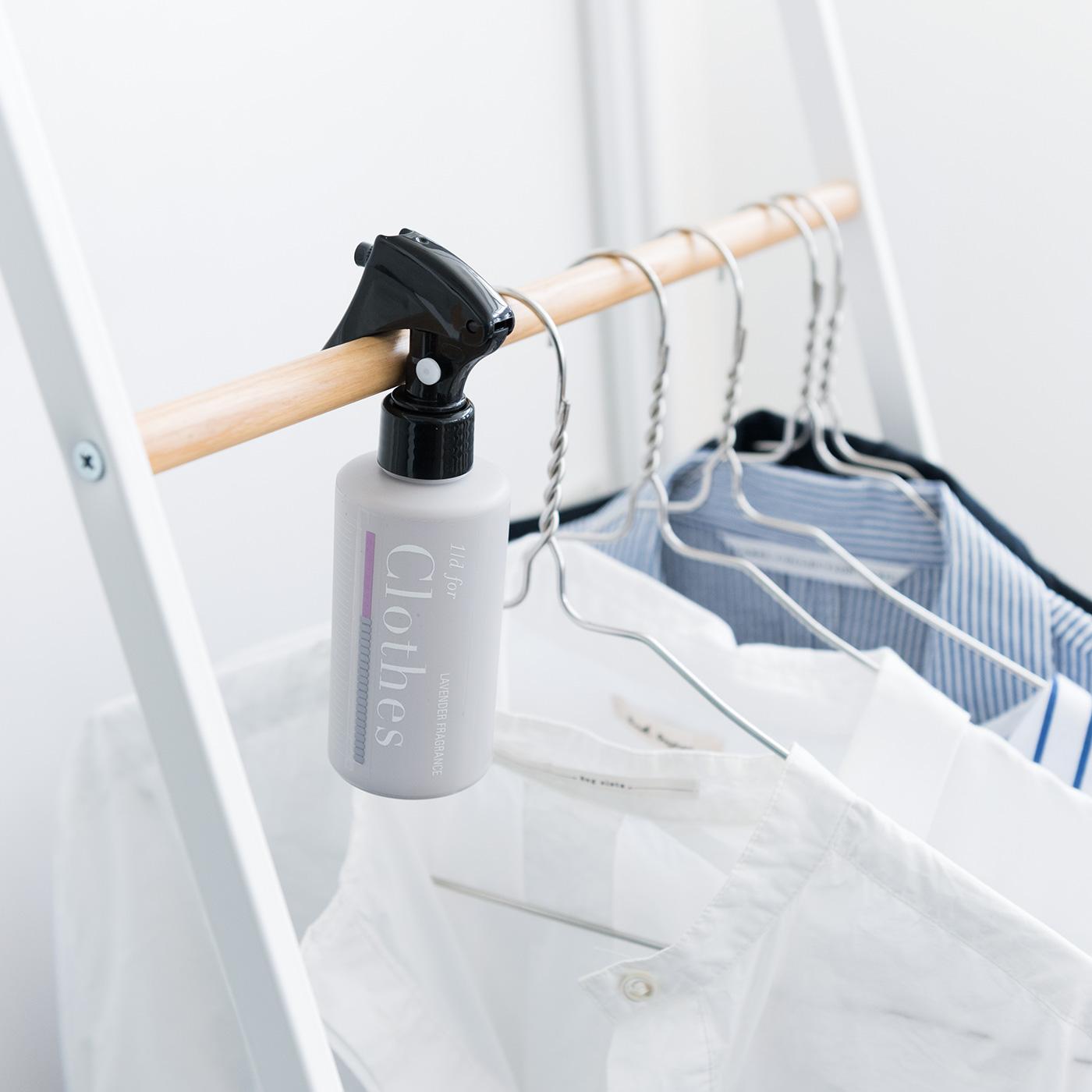 毎日は洗濯しない秋冬の衣類は、しわを取ってクローゼットへ。出しっぱなしでもオシャレな、暮らしになじむデザイン。