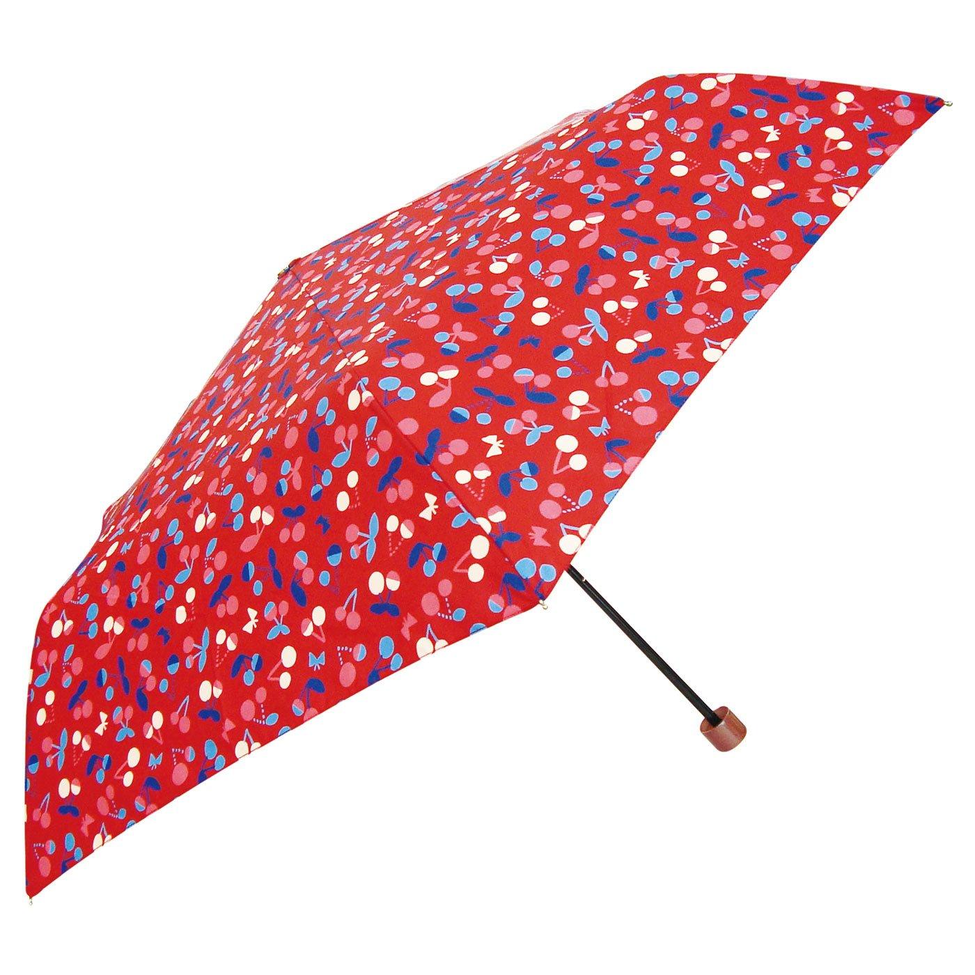 Shizuku L 折りたたみ傘 晴雨兼用 (チェリー)