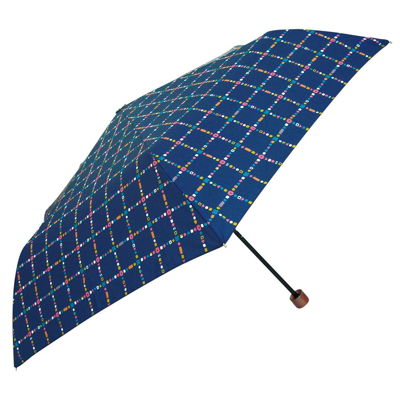 Shizuku L 折りたたみ傘 晴雨兼用(キャンディチェック)