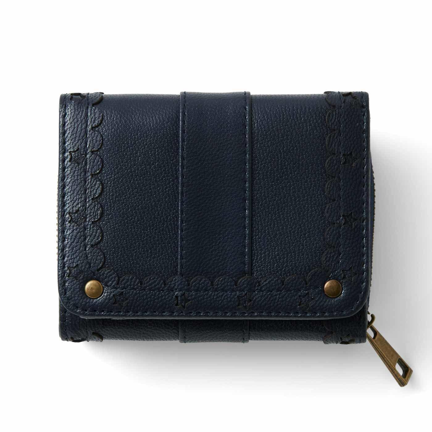 リブ イン コンフォート はまじとコラボ ずっと使いたい とっておきの本革ちび財布〈ミッドナイトネイビー〉
