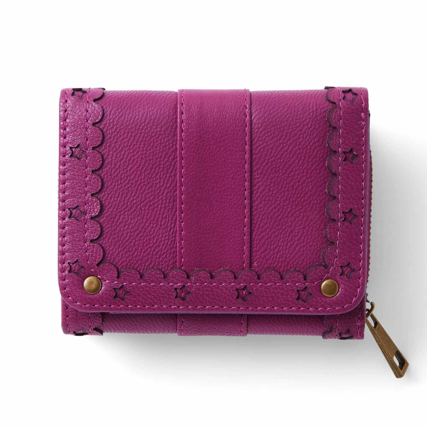 リブ イン コンフォート はまじとコラボ ずっと使いたい とっておきの本革ちび財布〈ベリーピンク〉