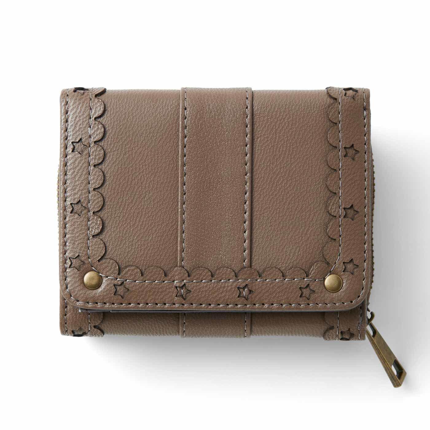 リブ イン コンフォート はまじとコラボ ずっと使いたい とっておきの本革ちび財布〈カフェオレベージュ〉