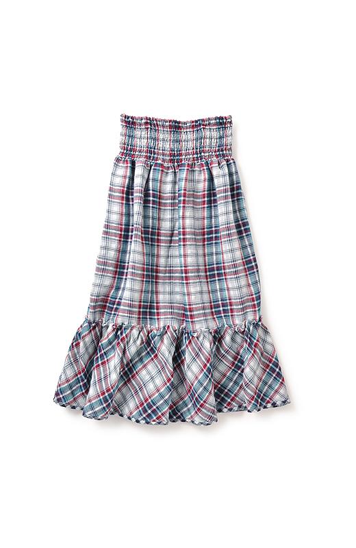 肩ひもは取り外せるので、脚が隠れるロングスカートとしても楽しめます。