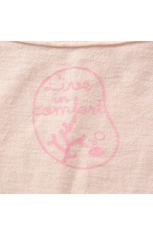背裏にはサンゴをデザインしたオリジナルロゴをプリント。
