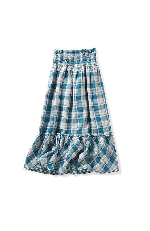 肩ひもは取り外せるので、脚がぜんぶ隠れるロングスカートとしても楽しめます。