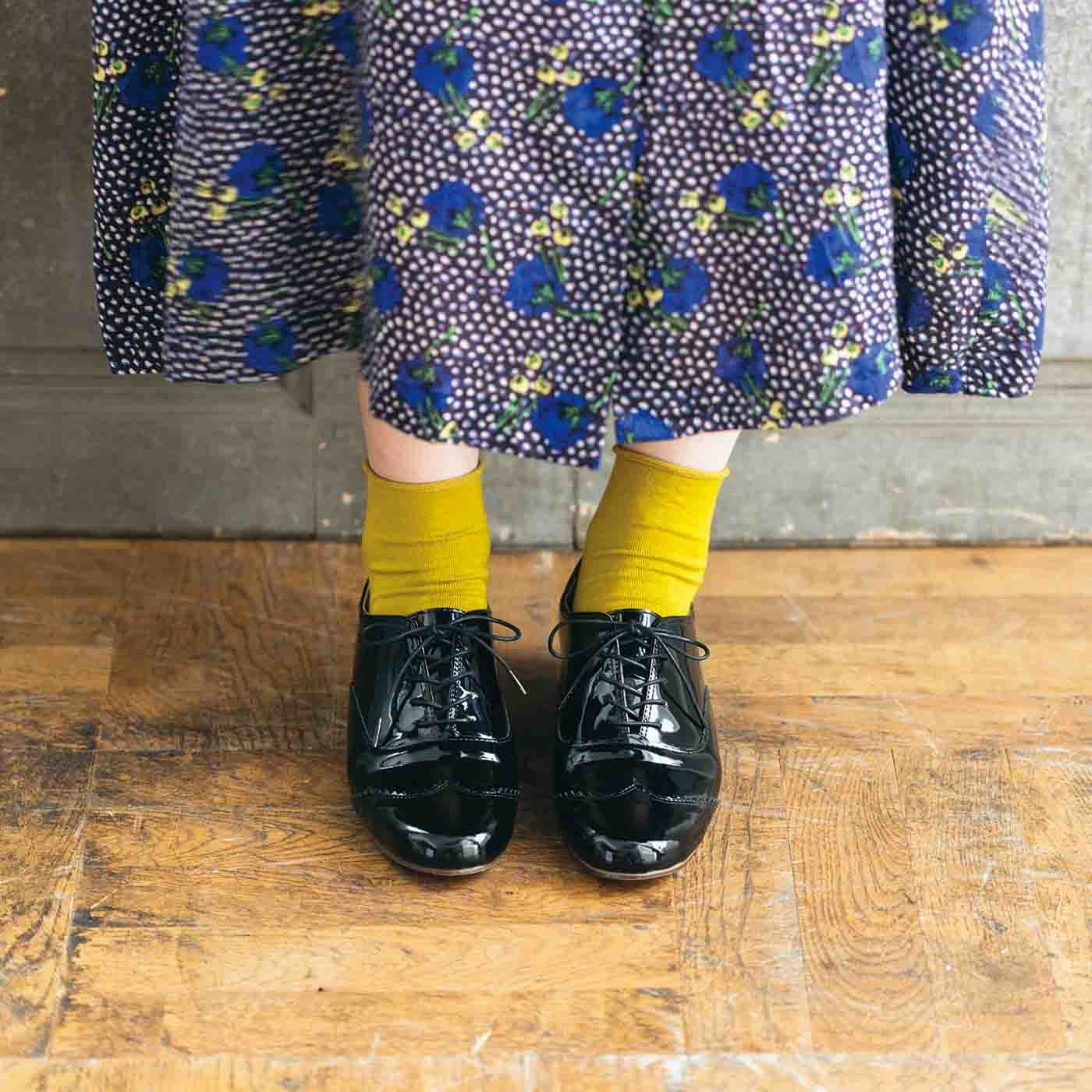 長田靴職人の本革仕立て シンプルレースアップ レザーシューズ 〈エナメルブラック〉[本革 靴:日本製]