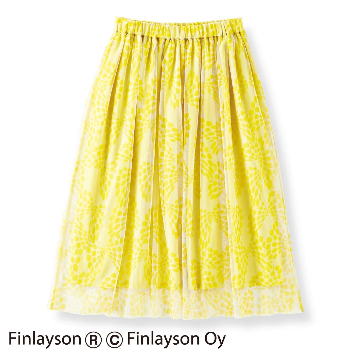フィンレイソン×フェリシモ デザインコンペ ふわりチュールスカート〈CHO NO MURE〉チョウ ノ ムレ
