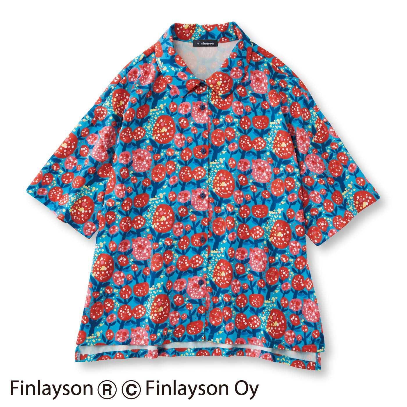 フィンレイソン×フェリシモ デザインコンペ 陽気なとろりんシャツ〈SAKU〉サク
