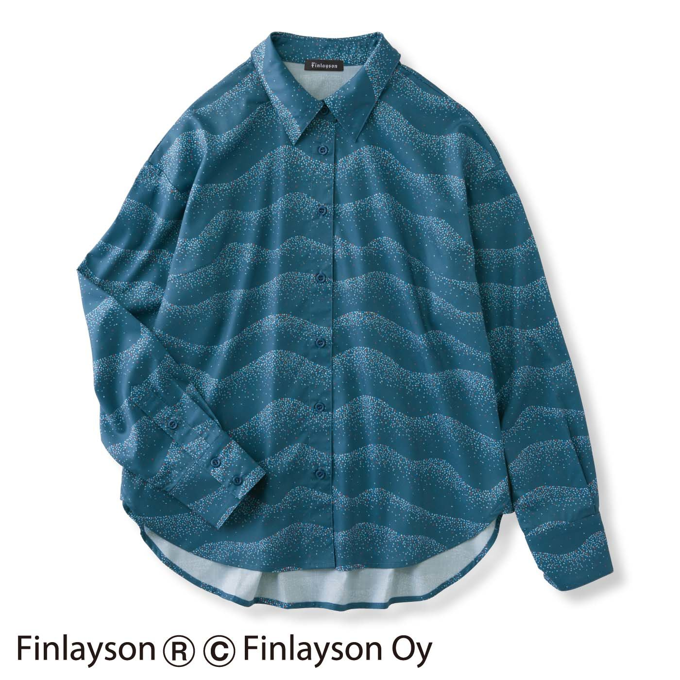 フィンレイソン ゆるりと楽しむオーバーサイズシャツ〈HIETA〉ヒエタ