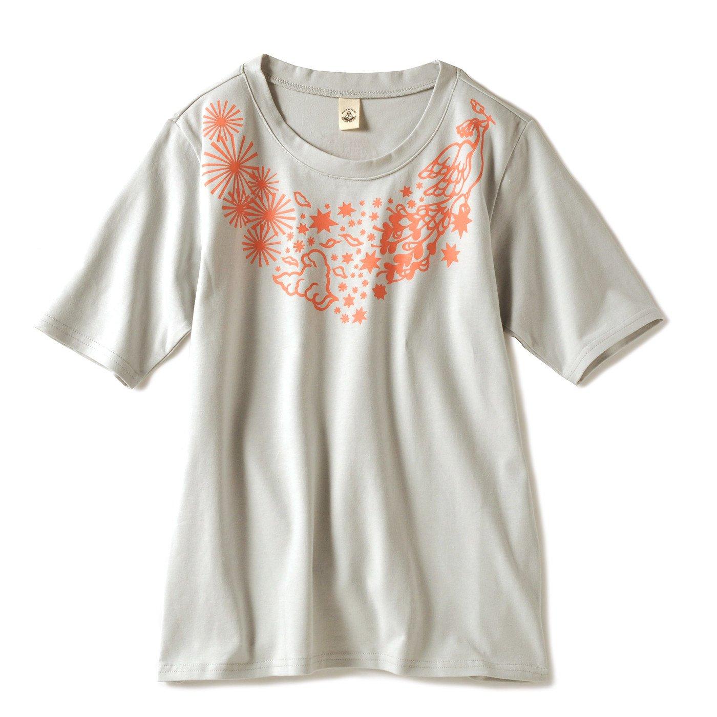 PEACE BY PEACE コットンプロジェクト のびやかヨガTシャツ〈情熱的な火〉