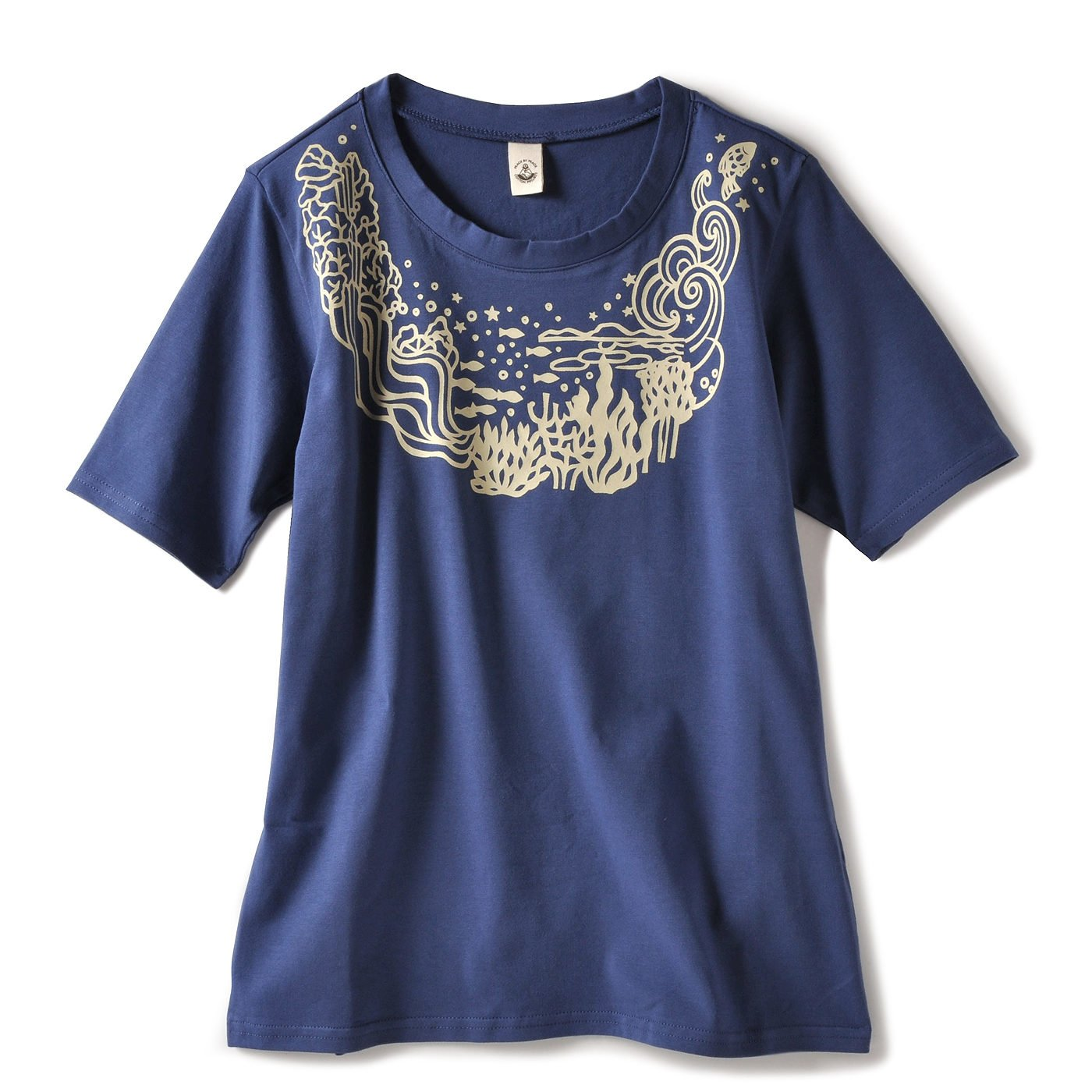 PEACE BY PEACE コットンプロジェクト のびやかヨガTシャツ〈穏やかな水〉