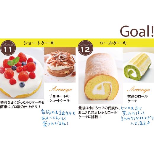 11.ショートケーキ、12.ロールケーキ