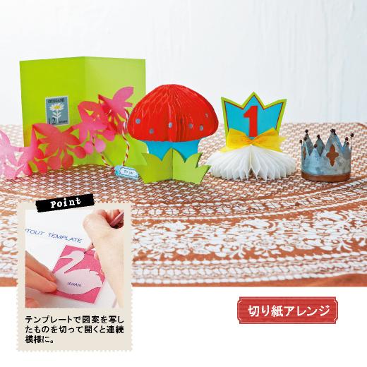 切り紙アレンジを盛り上げるカラフルな薄紙や、めずらしいハニカムペーパーをセット。切り紙が手軽に作れるテンプレートもセットされているので、初心者さんでも大丈夫。開くたびにワクワクできるユニークな仕掛けカードを作ってくださいね。