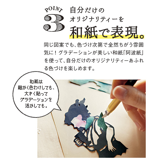 POINT.3 自分だけのオリジナリティーを和紙で表現