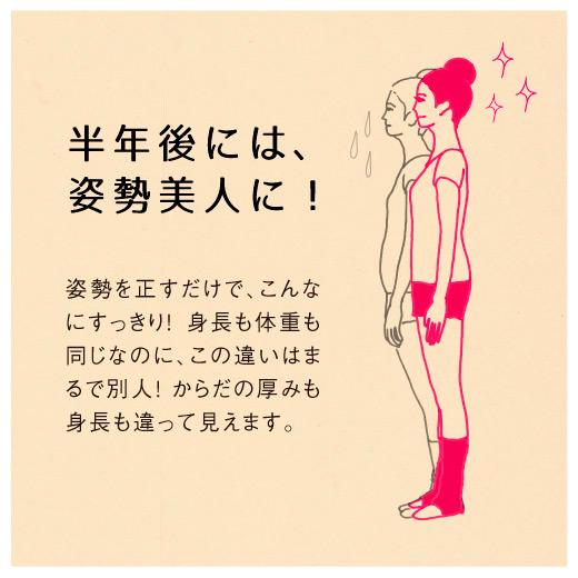 リラックス美バレエレッスンでは、「正しい姿勢を身につけて美しくなる」ことに集中したレッスンです。