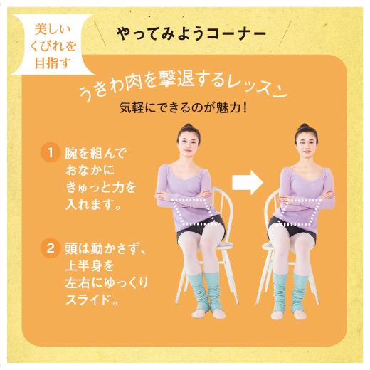 少ない動きでも効果は抜群!全身の筋肉を気持ちよく効果的に使うエクササイズで、バレエダンサーのように美しくしなやかなボディラインを目指します。