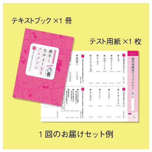 テキスト1冊とテスト用紙が毎月セットで届きます。