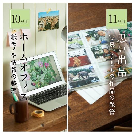 10ヵ月目:「ホームオフィス」紙モノや情報の整理 11ヵ月目:「思い出品」写真や子どもの作品の保管